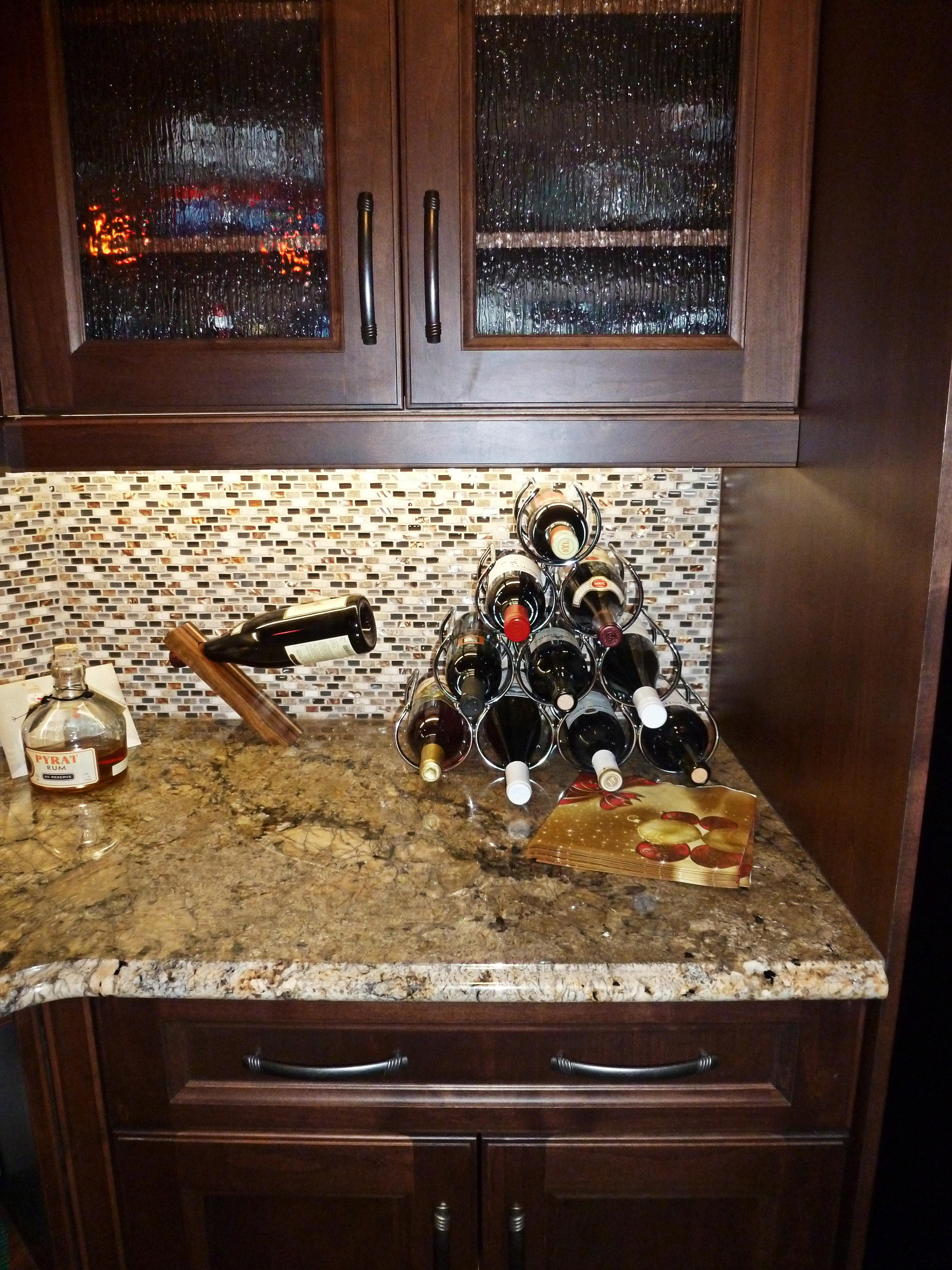mother of pearl tile backsplash the chocolate leather